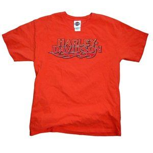 Harley-Davidson Orange T Shirt (2009) Size Large